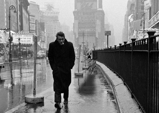 james-dean-times-square Iconic Dennis Stock photographs to be displayed at the Milk Gallery, NY Exposure