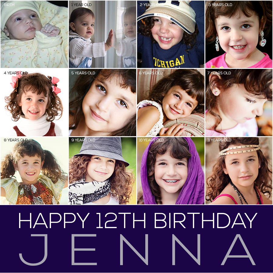 jenna-12th-birthday-collage1 A Lot Has Changed In The Past 12 Years: Happy Birthday Ellie and Jenna MCP Thoughts