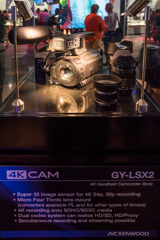 jvc-gy-lsx2 JVC GY-LSX2 and GW-SPLS1 4K cameras spotted at NAB Show 2014 News and Reviews