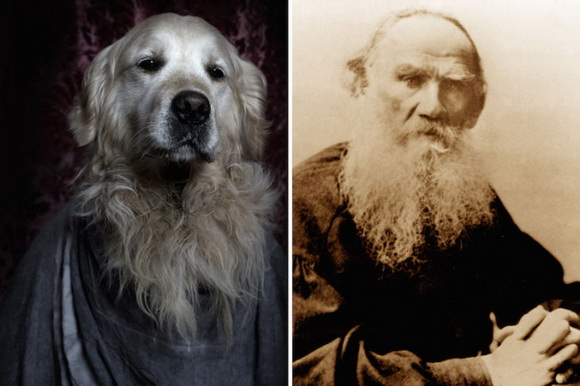 Dog and Lev Tolstoi