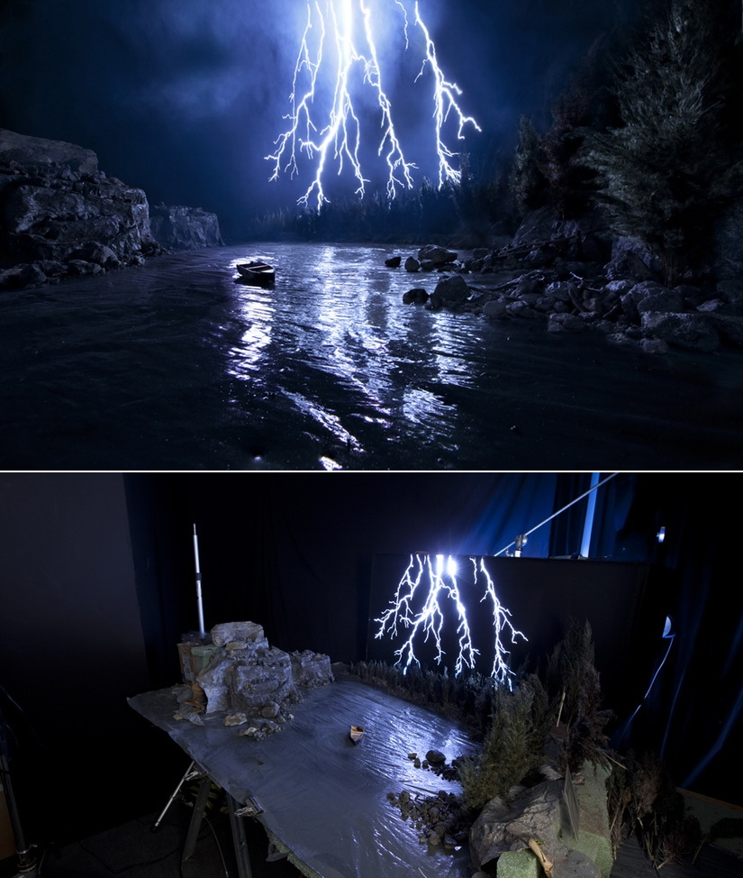 lightning-strike Amazing landscape photos are actually cleverly-built dioramas Exposure