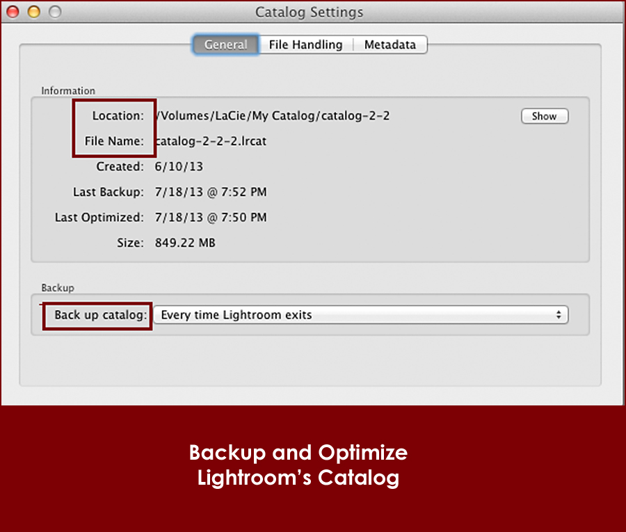 lightroom-catalog-settings1 Hurry: How to Backup Your Lightroom Catalog Today Lightroom Tutorials