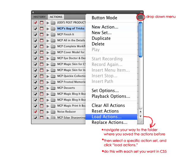 load-actions How to Move Photoshop Actions & More to Photoshop CS5 Photoshop Actions Photoshop Tips & Tutorials
