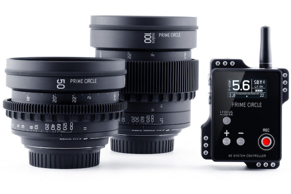 LookCircle's Prime Circle XE lenses use wireless technology for modifying aperture settings