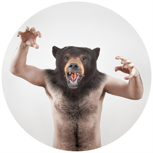 man-bear Human-animal hybrids portrait photos in Therianthropes series Exposure