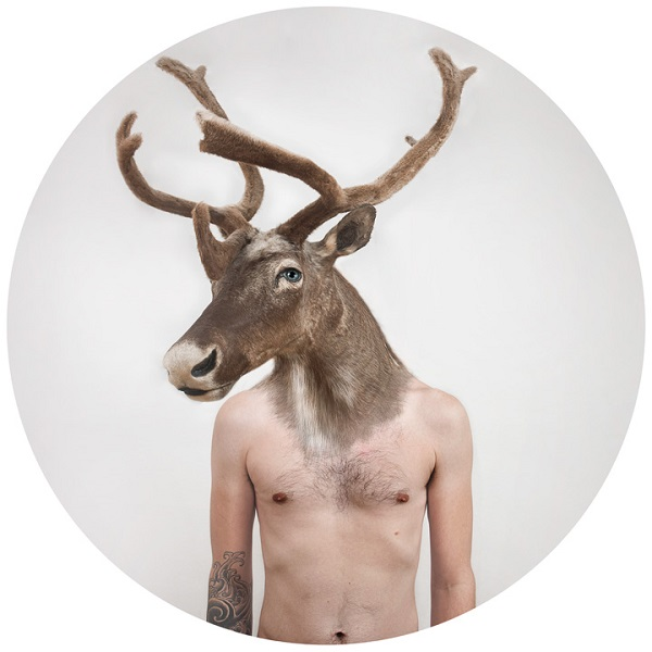 man-deer Human-animal hybrids portrait photos in Therianthropes series Exposure