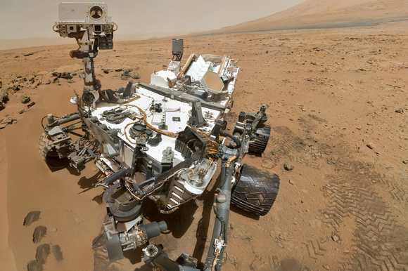 First self-portrait of the Mars Curiosity rover taken on the Red Planet