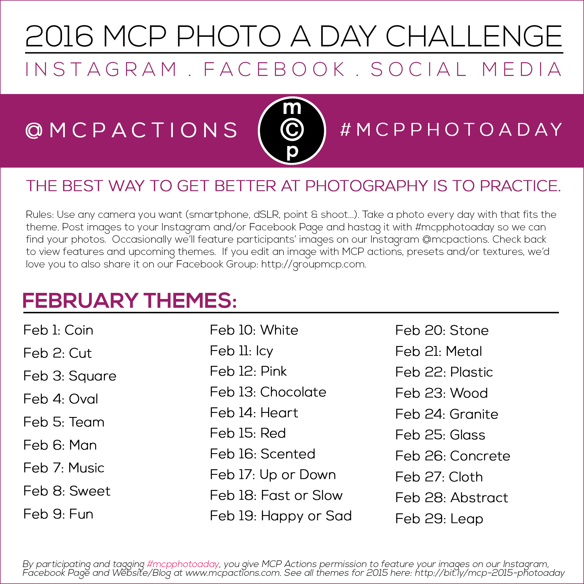 mcpphotoaday-February-2016 MCP Photo A Day Challenge: February 2016 Activities Announcements Assignments