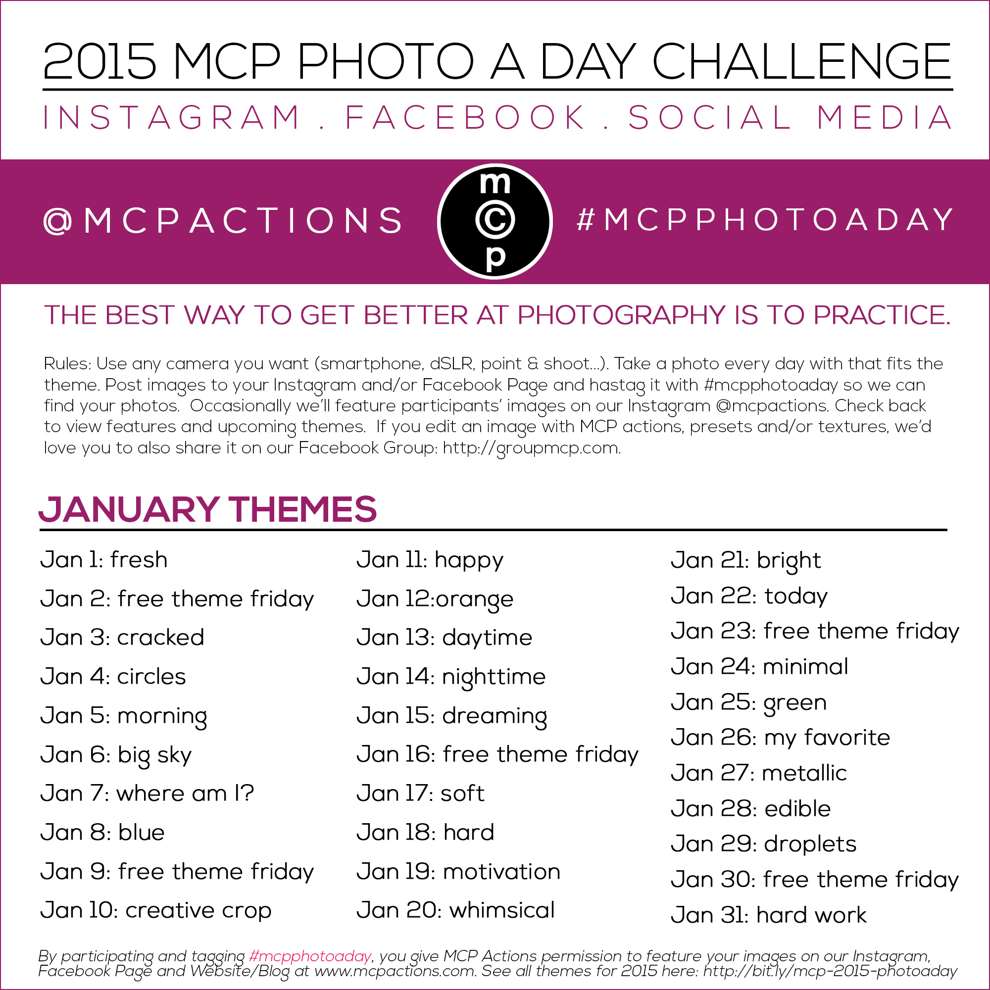 mcpphotoaday-January-1 MCP Photo A Day Challenge for 2015 Activities Announcements Assignments
