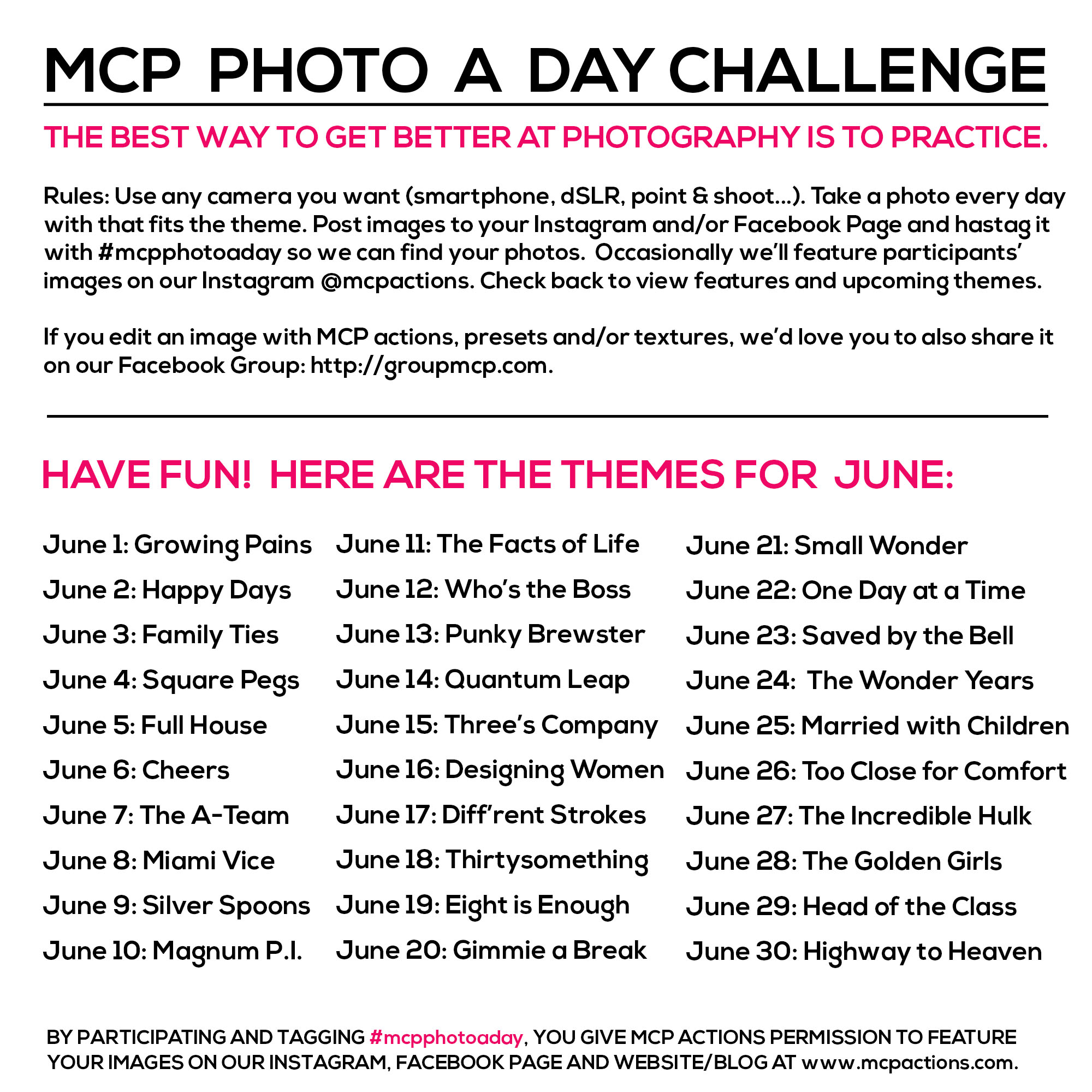 mcpphotoaday-June MCP Photo A Day Challenge: June 2015 Themes Activities Announcements Assignments