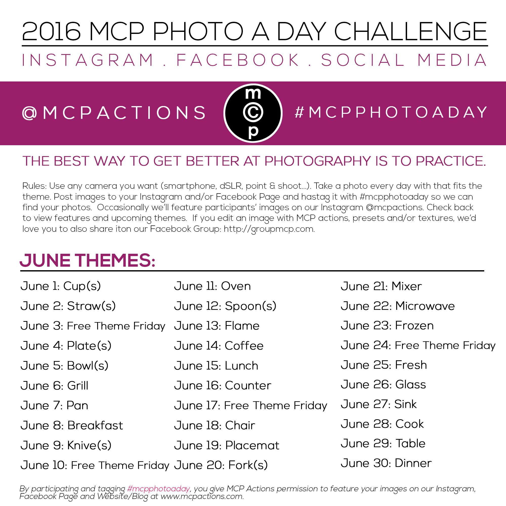 mcpphotoaday-june-2016 MCP Photo A Day Challenge: June 2016 Activities Announcements Assignments