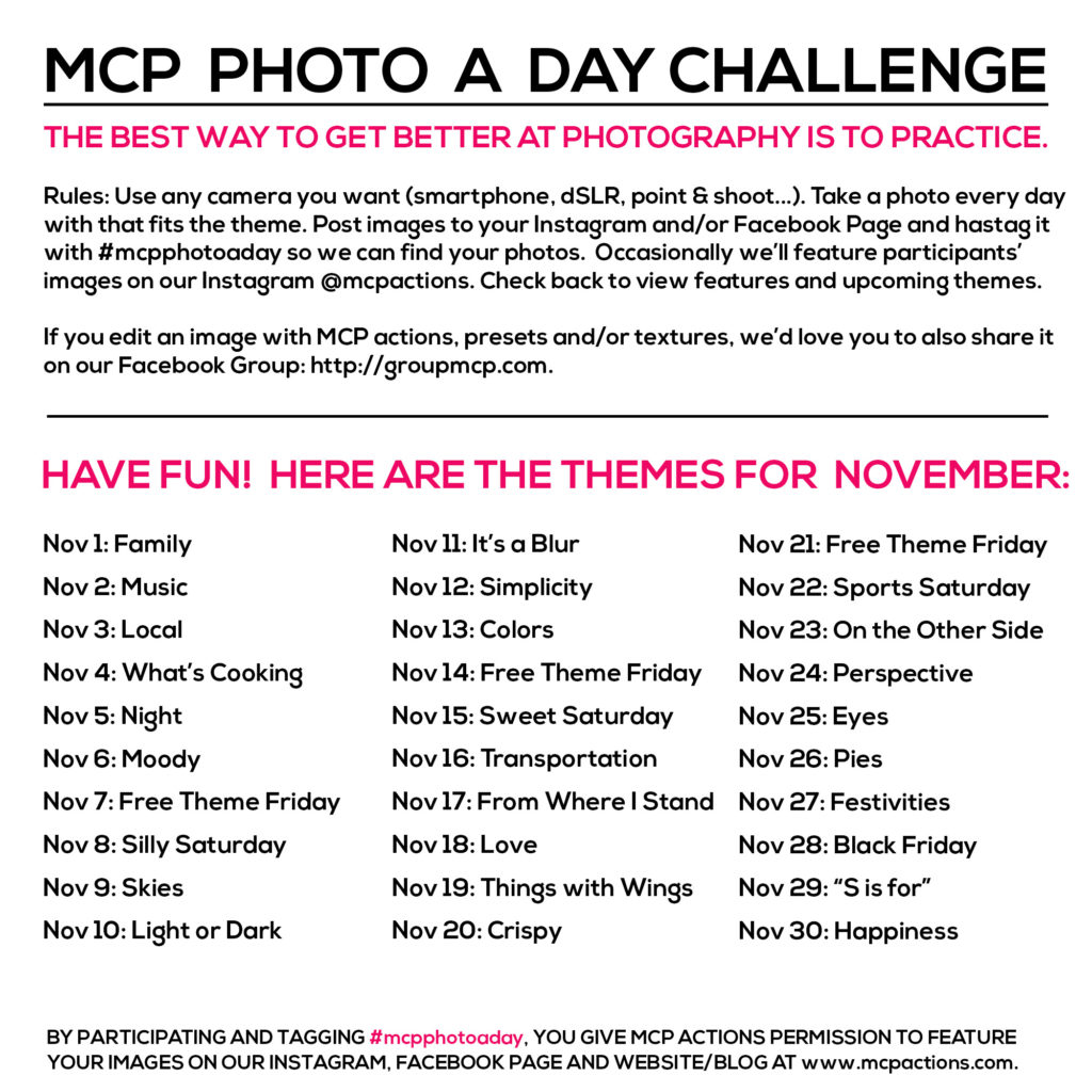 mcpphotoaday november
