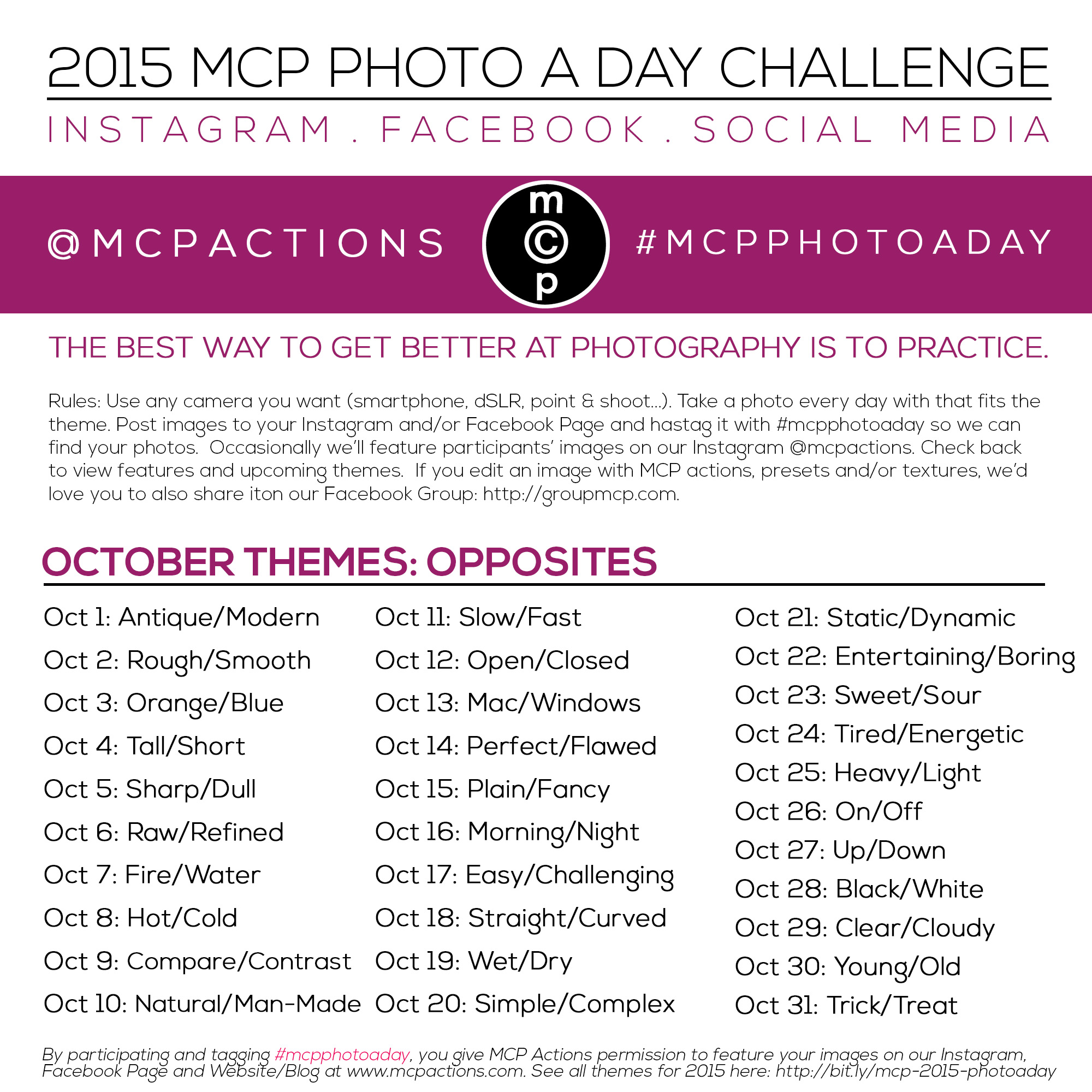 mcpphotoaday-october1 MCP Photo A Day Challenge: October 2015 Themes Activities Announcements Assignments