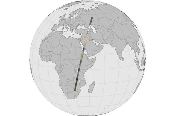 NASA 19-gigapixel Long Swath panorama