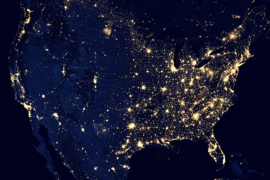 nasa-usa-night-satellite-view NASA video compilation of satellite imagery released News and Reviews