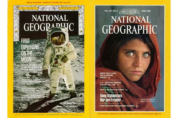 National Geographic's 125th anniversary reminding people of the most iconic cover images