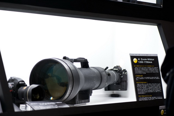 Nikon's Nikkor 1200-1700mm f/5.6-8P IF-ED lens at the CP+ Show 2013