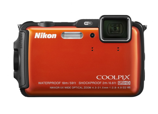 nikon-coolpix-aw120-front Nikon Coolpix AW120 and Nikon Coolpix S32 cameras revealed News and Reviews
