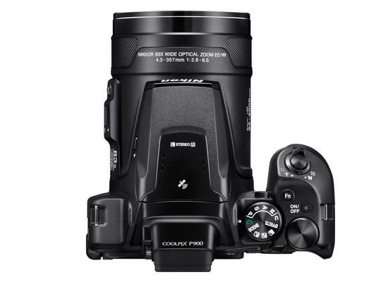 nikon-coolpix-p900-top Nikon Coolpix P900 bridge camera announced with 83x optical zoom lens News and Reviews