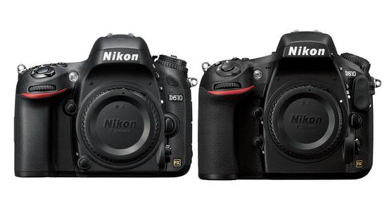 Nikon D610 and D810