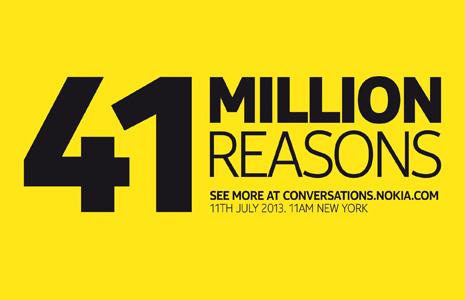 nokia-41-million-reasons-teaser Nokia EOS 41-megapixel smartphone announcement date is July 11 Rumors