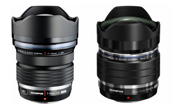 olympus-7-14mm-f2.8-and-8mm-f1.8-pro-lenses Olympus 7-14mm f/2.8 PRO lens release date set for late July Rumors
