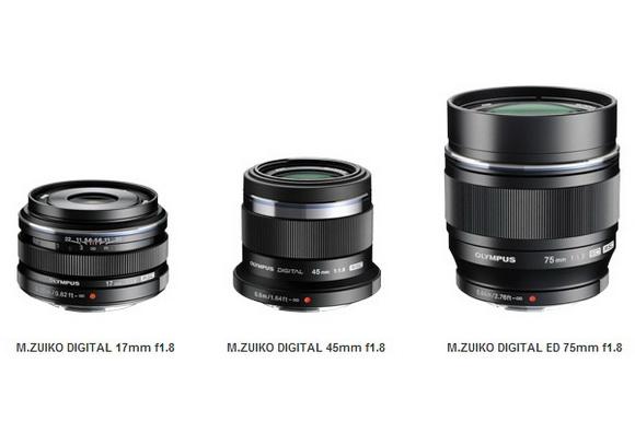 Olympus Black prime lenses