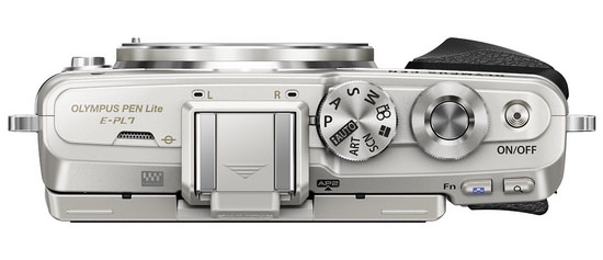 olympus-e-pl7-top Olympus PEN Lite E-PL7 camera launched with E-M10-like specs News and Reviews