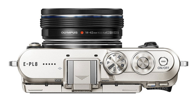 olympus-e-pl8-top Stylish Olympus E-PL8 camera appeals to selfie enthusiasts News and Reviews