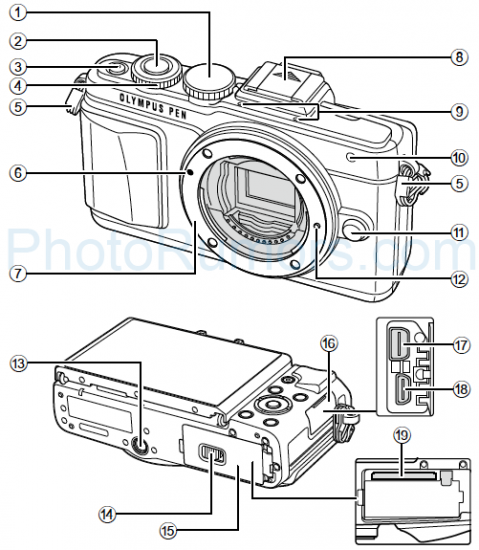 olympus-pen-e-pl7-front-leaked Olympus PEN E-PL7 manual photos leaked online Rumors