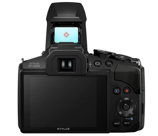 olympus-stylus-sp-100-dot-sight Olympus Stylus SP-100 is world's first camera with a dot-sight News and Reviews