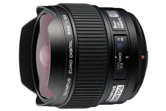 Olympus Zuiko 8mm f/3.5 fisheye lens