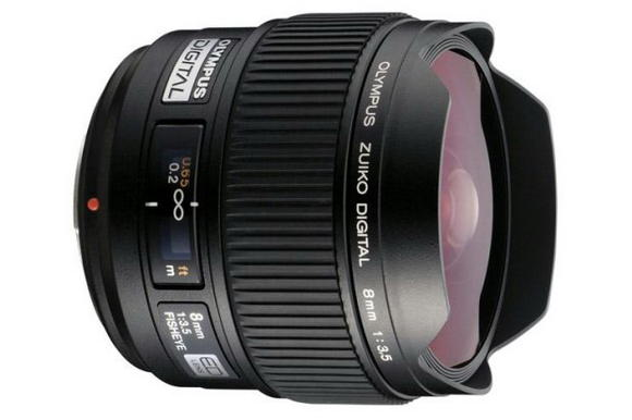 Olympus Zuiko 8mm f/3.5 wide-angle lens