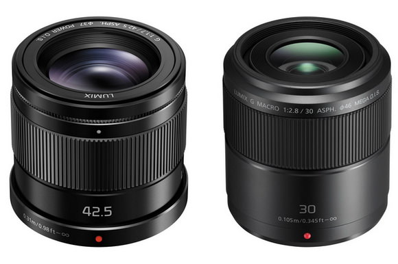 Panasonic 42.5mm f/1.7 and 30mm f/2.8 lenses