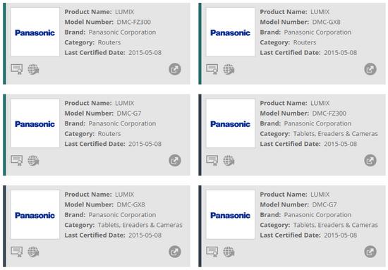 panasonic-cameras-wi-fi-alliance Panasonic FZ300 registered alongside G7 and GX8 cameras Rumors