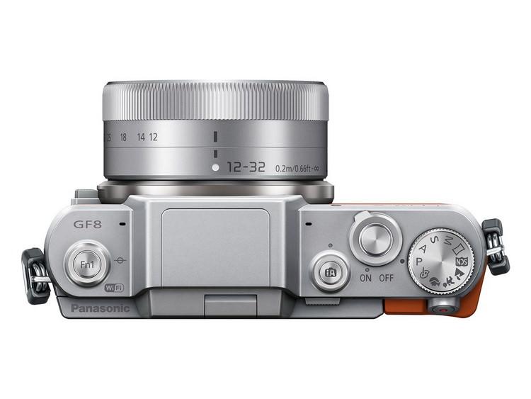 panasonic-gf8-top Panasonic GF8 mirrorless camera unveiled with selfie display News and Reviews