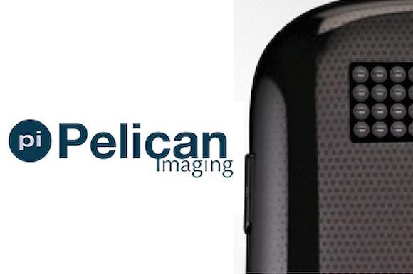 Pelican Imaging logo and bug-eye-like optical array
