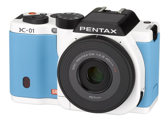 pentax-k-01-blue-white Pentax K-01 becomes official in Blue and White colors News and Reviews