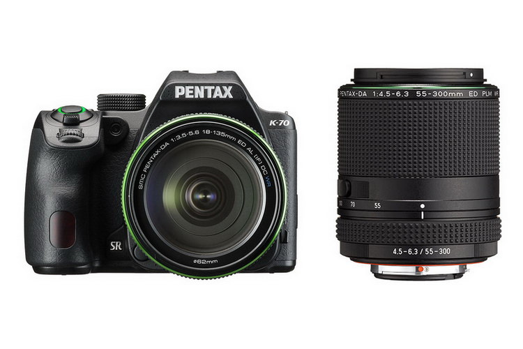 pentax k-70 dslr 55-300mm f4.5-6.3 lens