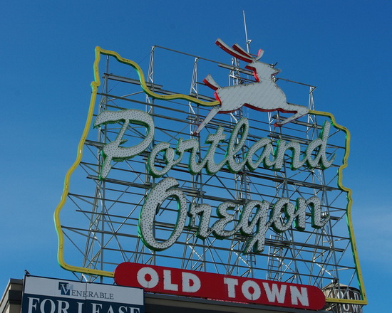Portland, Oregon iconic White Stag sign costs money if one wants to use it for any sort of commercial purposes.