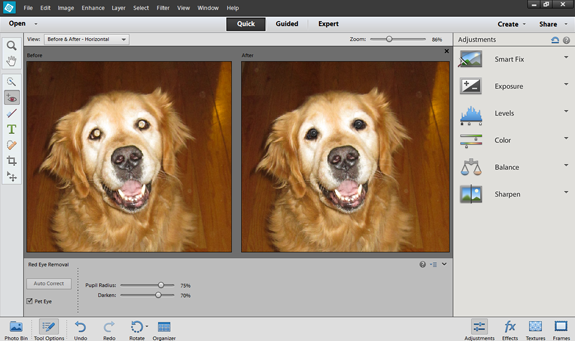pse-12-pet-eye What You Need to Know About Photoshop Elements 12 Upgrade Photography & Photoshop News