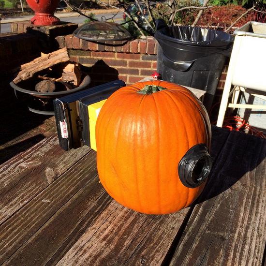 pumpkin-camera Photographer celebrates Halloween with Polaroid pumpkin camera Exposure