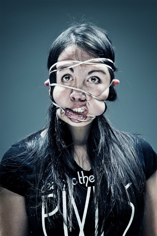 red-light-cameras-amanda-machon Artists put rubber bands on their faces in painful photo shoot Exposure