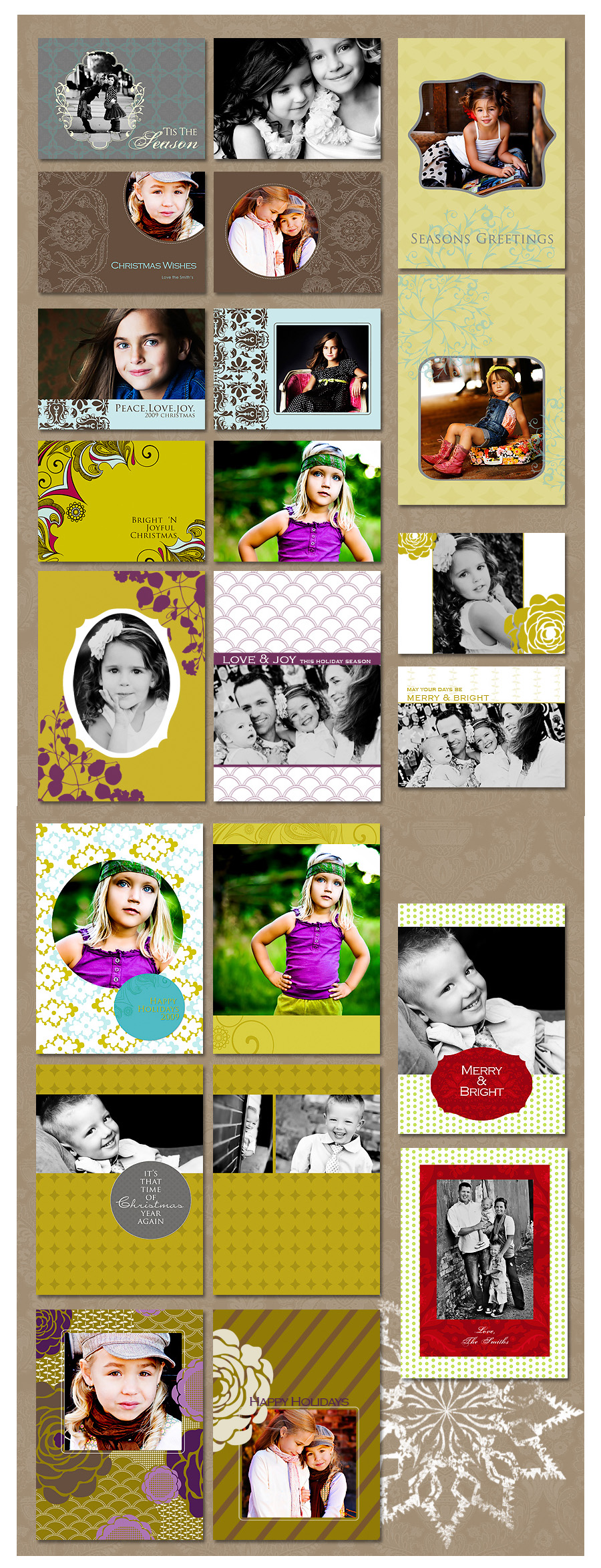sample1-for-ad Last Card & Template Workshop for 2009 * 26 CARDS INCLUDED {November 18th} Announcements Photography Tips