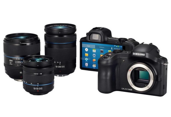 samsung-galaxy-nx-lenses-leaked Samsung Galaxy NX is the upcoming Android mirrorless camera Rumors