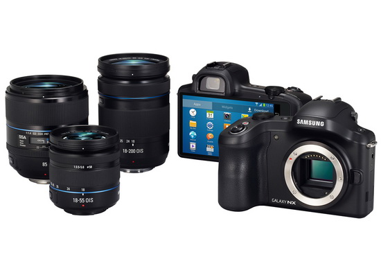 samsung-galaxy-nx-lenses Samsung Galaxy NX Android camera with WiFi and LTE announced News and Reviews