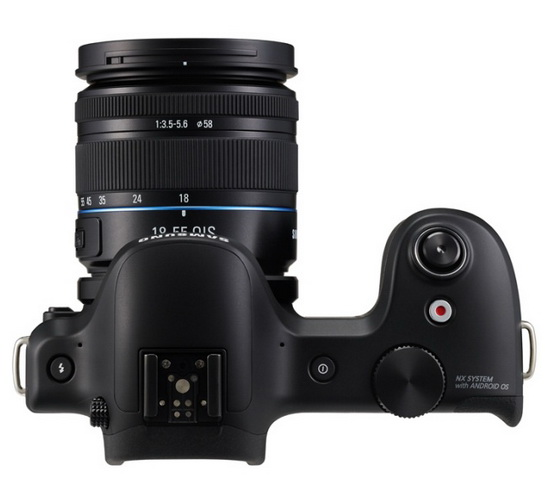 samsung-galaxy-nx-top-view Samsung Galaxy NX Android camera with WiFi and LTE announced News and Reviews