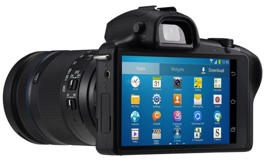 samsung-galaxy-nx-touchscreen-leaked Samsung Galaxy NX is the upcoming Android mirrorless camera Rumors