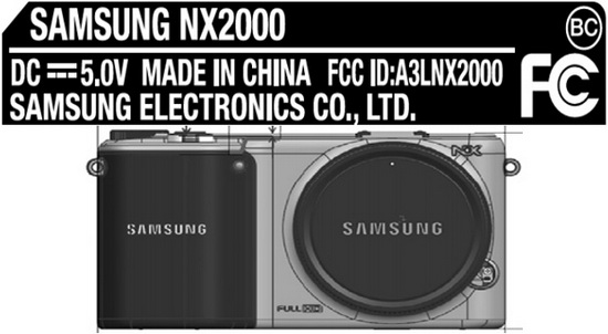 samsung-nx2000-wifi-fcc Samsung NX2000 Tizen / Android camera passes through the FCC Rumors