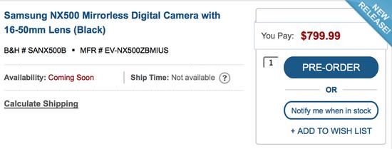 samsung-nx500-pre-order Samsung NX500 photos, specs, and price leaked online Rumors